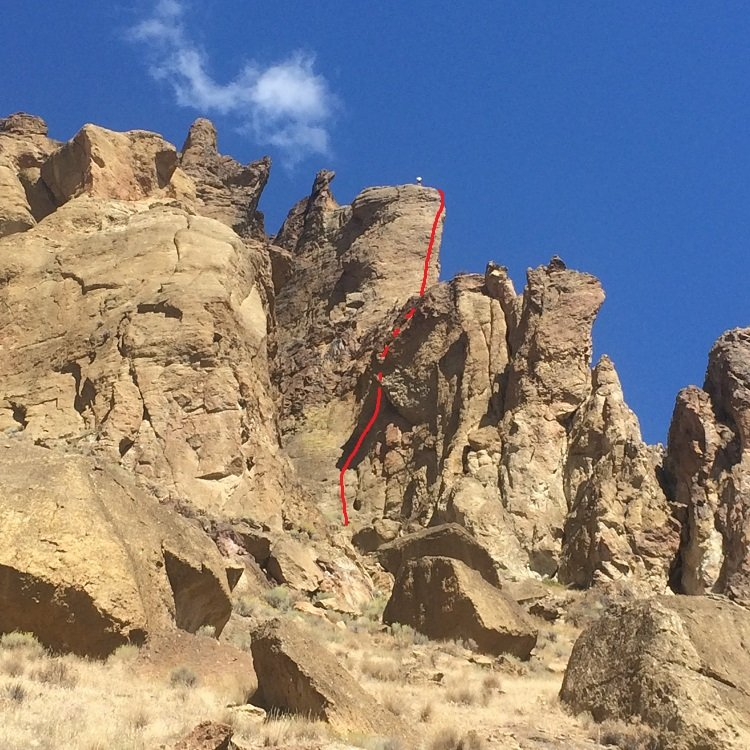 Voyage of the Cowdog - Smith Rock Climbing