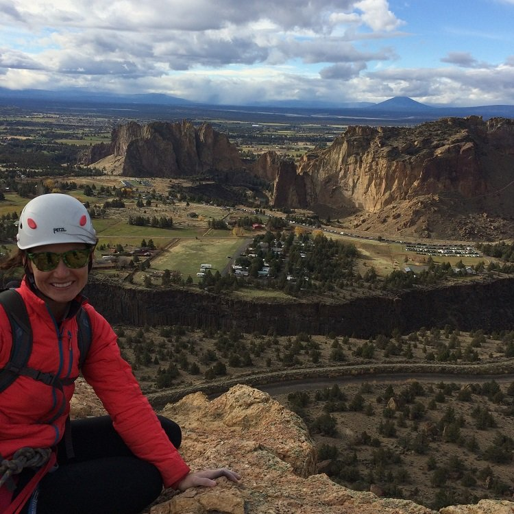 The top of Brogan Spire - Smith Rock