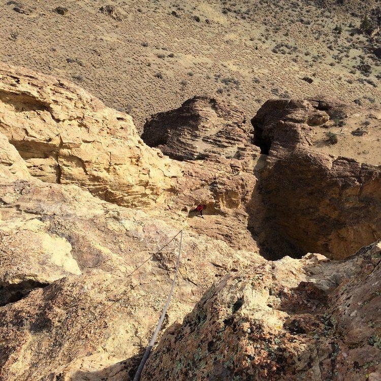 The top of Brogan Spire - Smith Rock