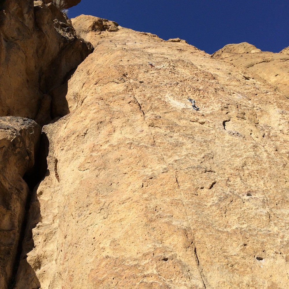Purple Headed Warrior Start - Smith Rock Climbing