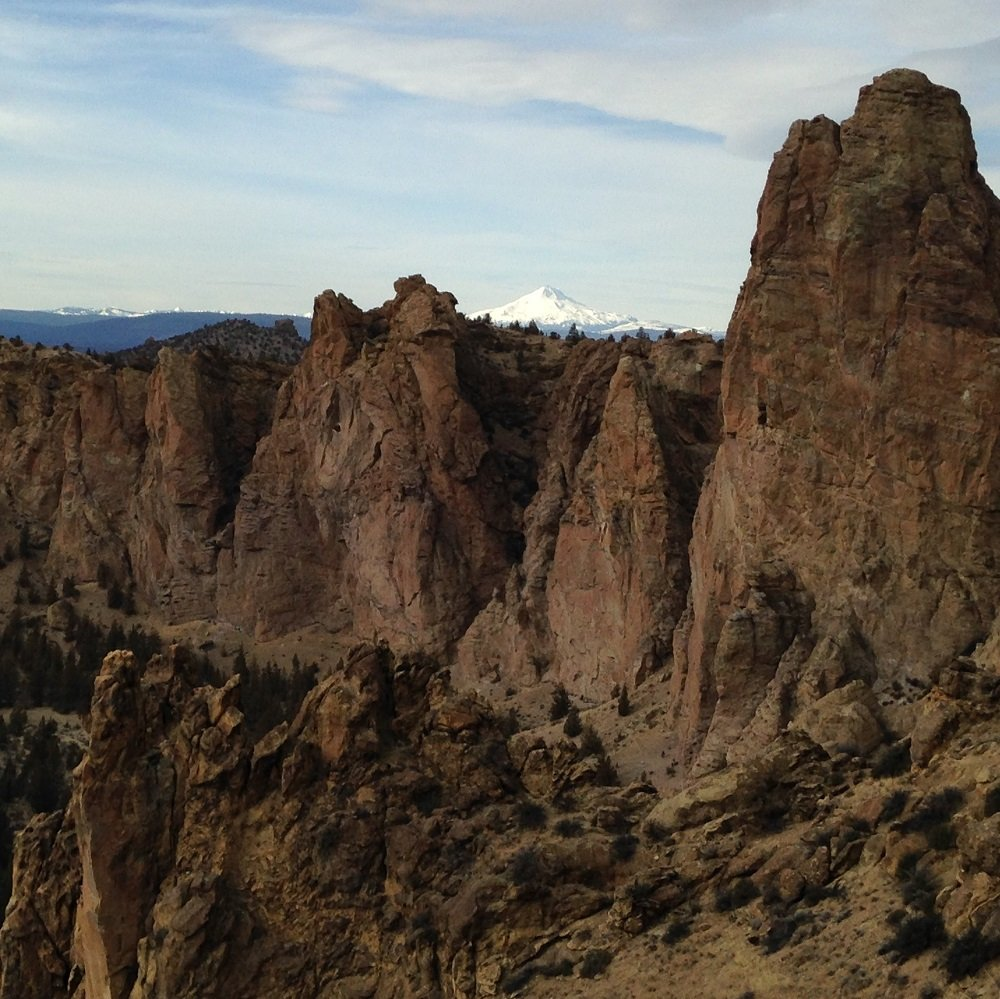 Mt. Jefferson view from Staender Ridge - Smith Rock Climbing