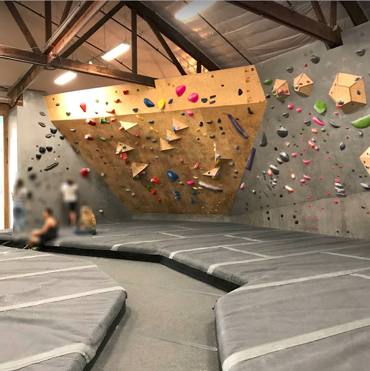 Elevation Bouldering Gym Back Wall