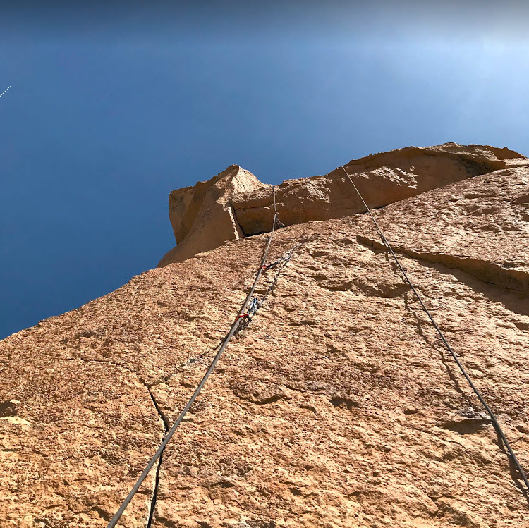 Thin Air Start - Smith Rock Climbing