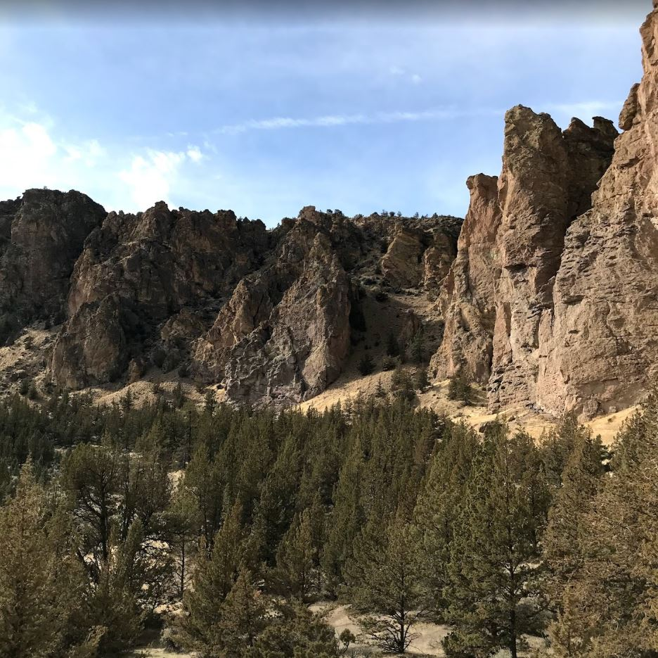 The Monument Base Area - Smith Rock Climbing